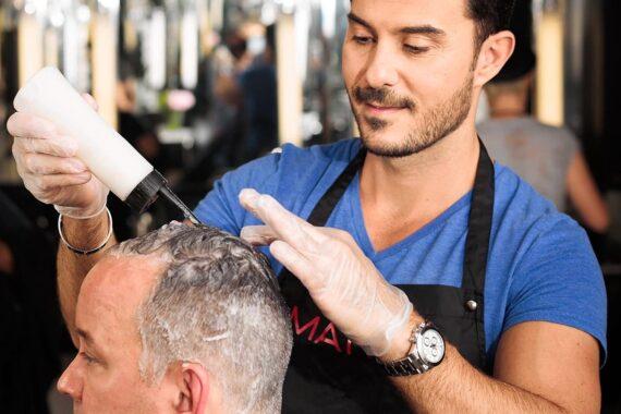 Haarfärbung nach Haartransplantation